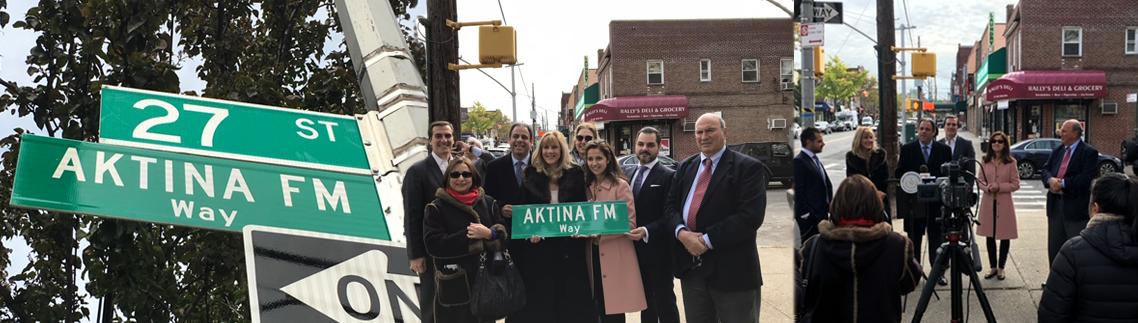 AKTINA FM Honored With Street Co-Naming - AKTINA FM Way!
